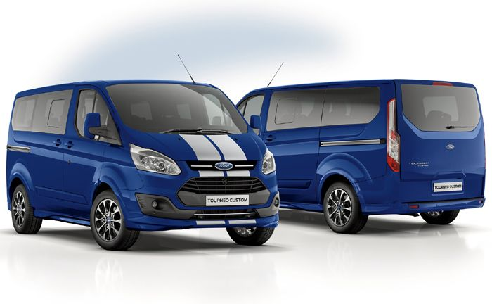 ford transit custom black edition und tourneo custom sport. Black Bedroom Furniture Sets. Home Design Ideas