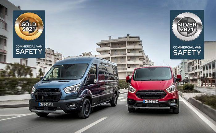 Ford Transit und Transit Custom mit Top-Ergebnissen bei Euro NCAP-Bewertung