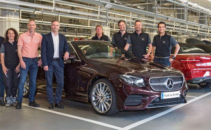 mercedes-benz werk bremen produziert neues e-klasse cabrio