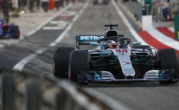 Formel 1 Großer Preis von Bahrain 2018 Lewis Hamilton