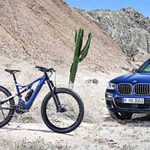 Das neue SPECIALIZED for BMW Turbo Levo FSR 6Fattie und der neue BMW X3 xDrive M40i