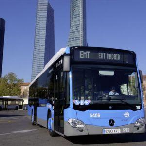 672 mit Erdgas betriebene Mercedes-Benz Citaro NGT beim Verkehrsbetrieb EMT Madrid im Einsatz