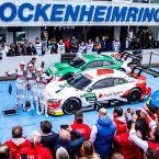 DTM Hockenheim: Nico Müller, René Rast, Robin Frijns