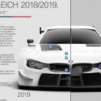 BMW M4 DTM, Vergleich 2018/2019