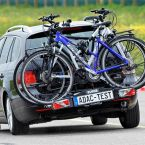 Fahrradträger Premium 3 von Eufab beim Ausweichtest