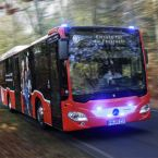 Mercedes-Benz Citaro LE Ü, Busunternehmen regiobus Potsdam Mittelmark GmbH; Daten: 260 kW (354 PS), 7,7 L Hubraum, 6-Gang Automatikgetriebe, Sideguard Assist, LED-Scheinwerfer
