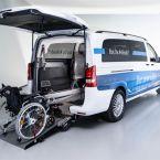 Mercedes-Benz eVito Tourer mit Umbau zur Beförderung von Rollstuhlfahrern
