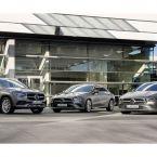Mercedes-Benz Plug-in-Hybridmodelle der Kompakten: Mercedes-Benz GLA 250 e, CLA 250 e Coupé und CLA 250 e Shooting Brake