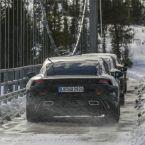 Porsche Taycan bei Langstreckentests in Skandinavien