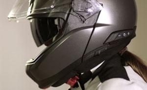 kommunikationsanlage für den bmw motorrad systemhelm 6