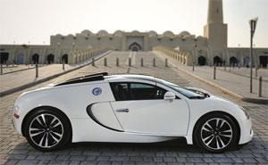 bugatti mit dem veyron 16 4 grand sport auf der qatar motorshow autosieger. Black Bedroom Furniture Sets. Home Design Ideas