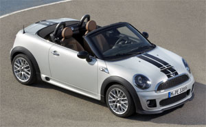 der neue mini roadster minis erstes 2 sitzer cabrio. Black Bedroom Furniture Sets. Home Design Ideas