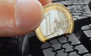 Rutschpartie Durch Abgefahrene Reifen Profiltiefe Messen