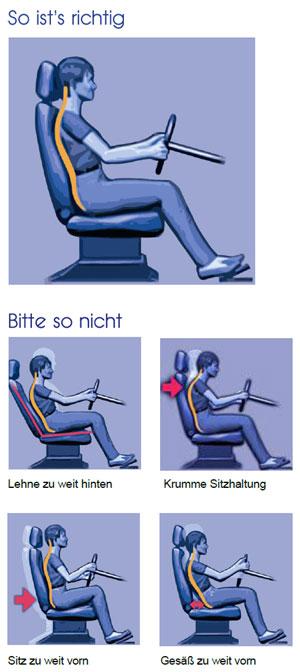 Sitzposition Von Autofahrern Oft Falsch So Sitzen Sie Richtig
